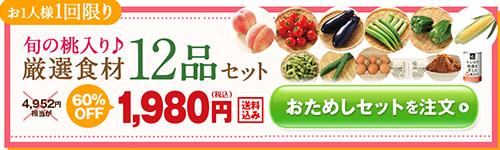 「らでぃっしゅぼーや」旬の桃入り厳選食材12品セット(おためしセット)